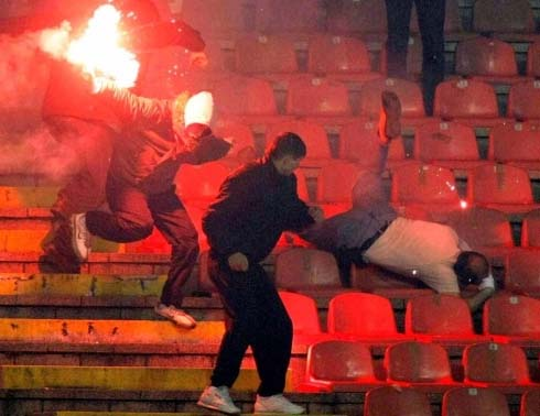 Red Star Policeman Fire