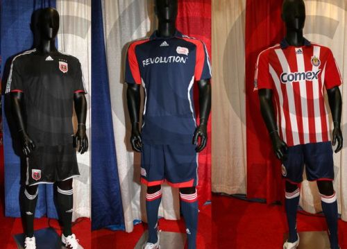 DC United, Chivas USA, New England Revolution 2008 Jerseys