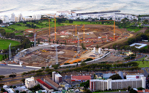 Green Point stadium construction: early excavation (June 18, 2007)