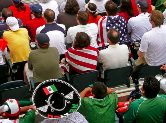 Mexico and U.S. fans at the 2007 Gold Cup Final in Chicago