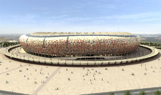 Rendering of Soccer City Stadium