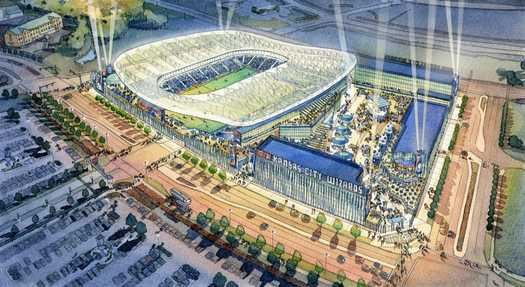 Kansas City Wizards new stadium rendering