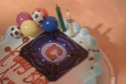 Fire Birthday Cake
