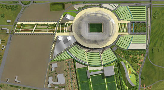 Aerial view of the Grand Stade