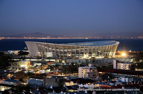 Green Point Stadium, one of the 2010 World Cup venues in South Africa, is almost complete.