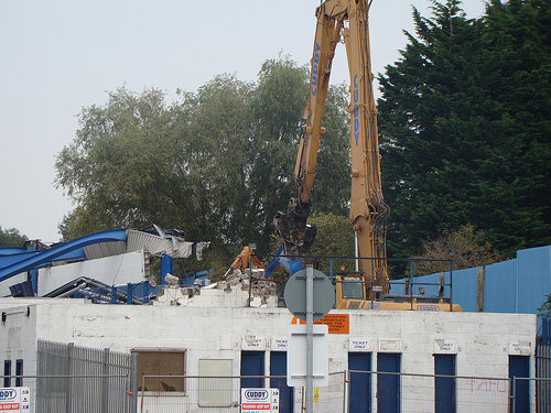 Demolition of Ninian Park