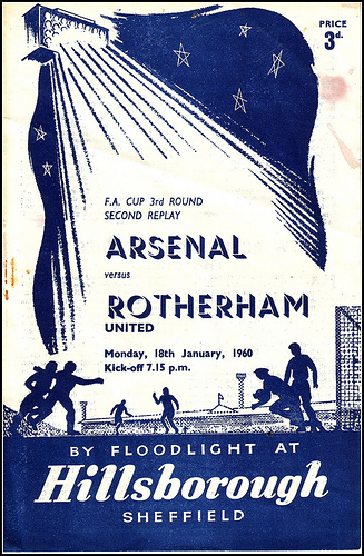 Arsenal vs. Rotherham programme cover