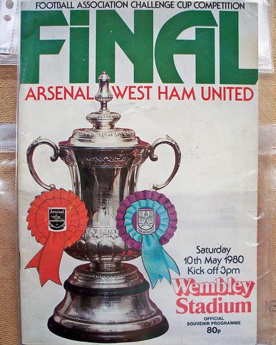 Arsenal vs. West Ham United, FA Cup Final 1980