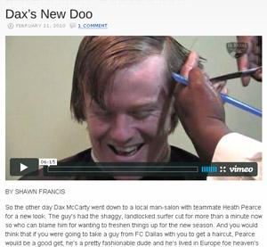 Dax's new doo video