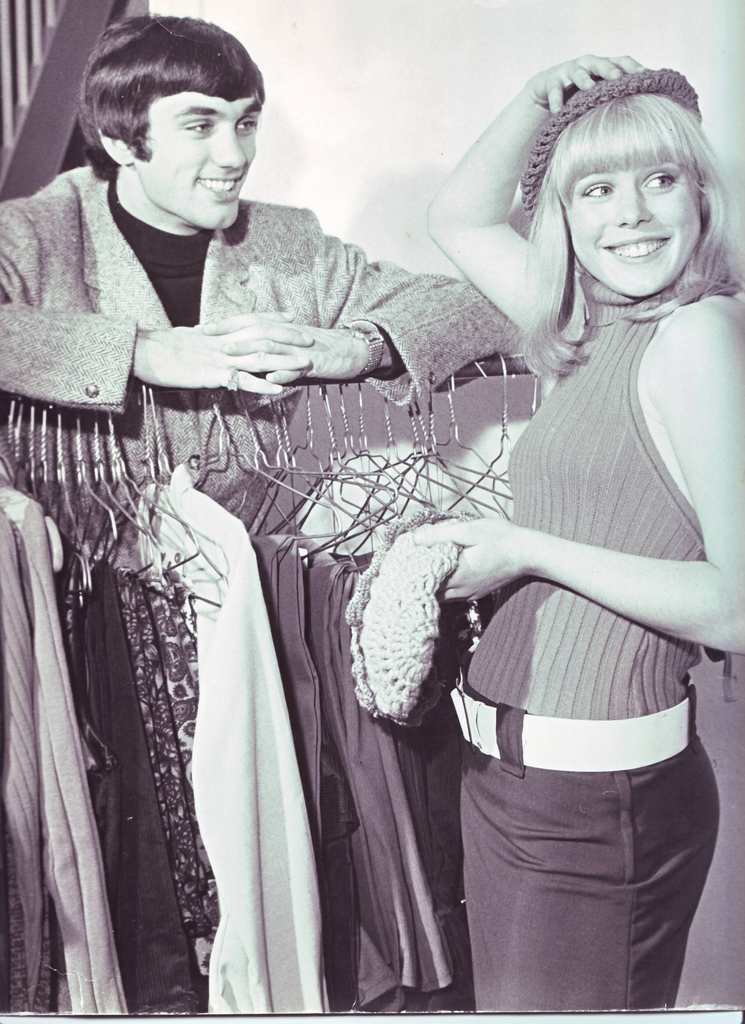 George Best in his fashion boutique, 1960s.
