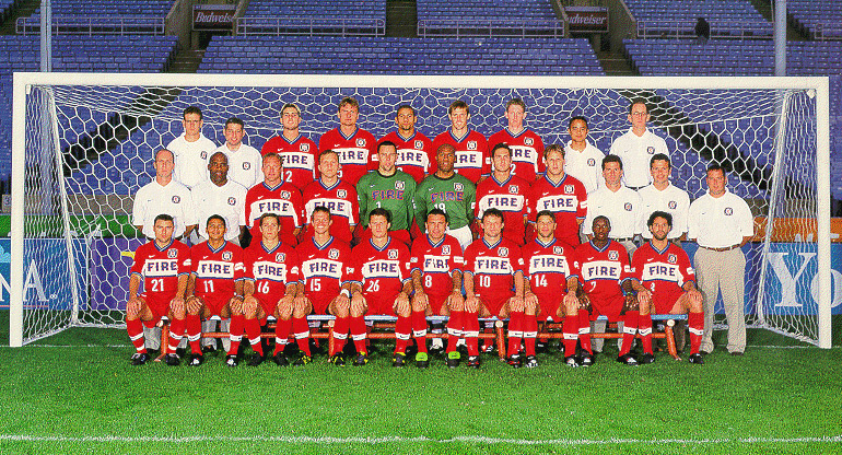Five players, the coach and the son of the coach of the 2000 Chicago Fire are among 11 2010 US World Cup players and coaches with ties to the early Chicago Fire.