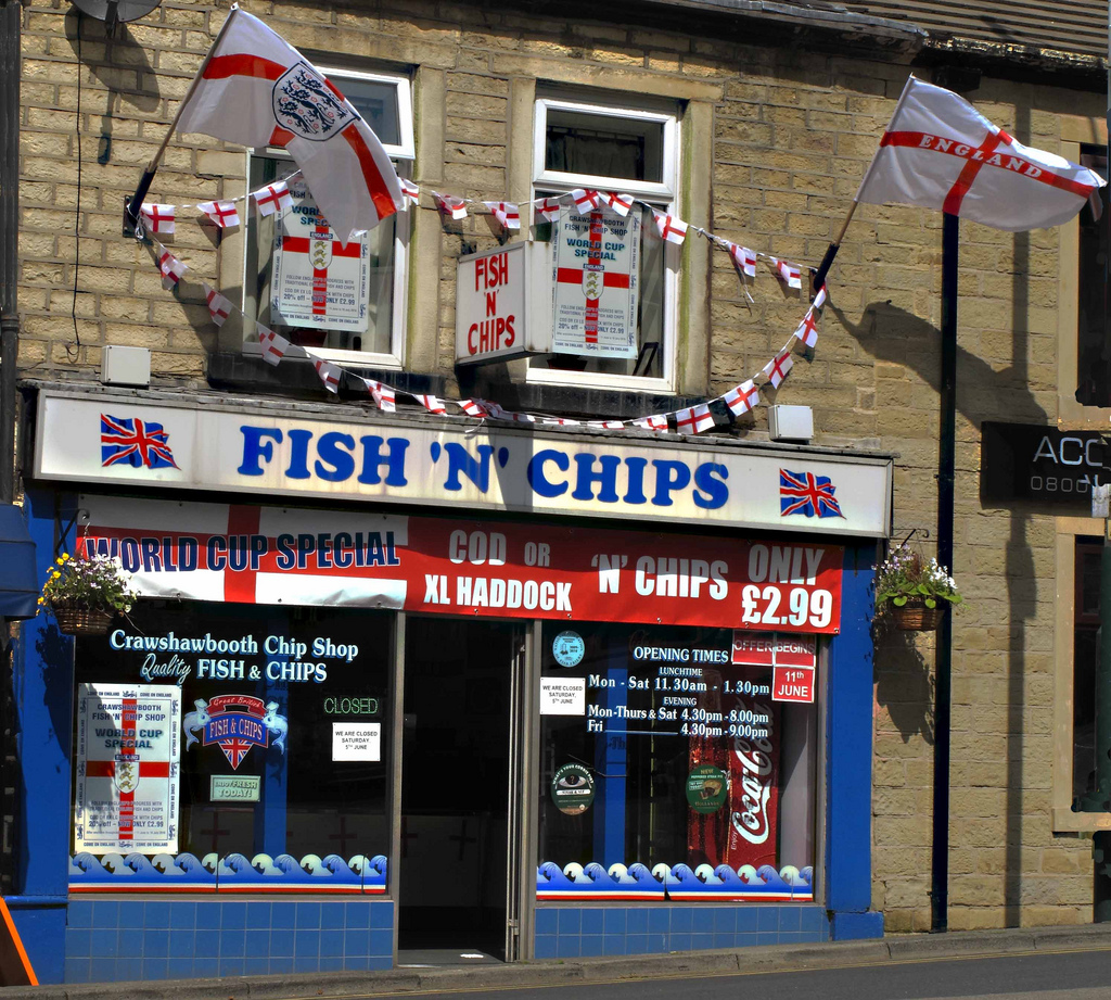 Fish and Chip Shop in Lancashire, England