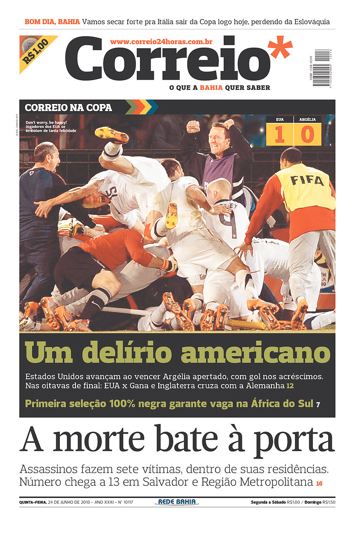 Brazil, newspaper, Landon Donovan, World Cup, United States, Goal
