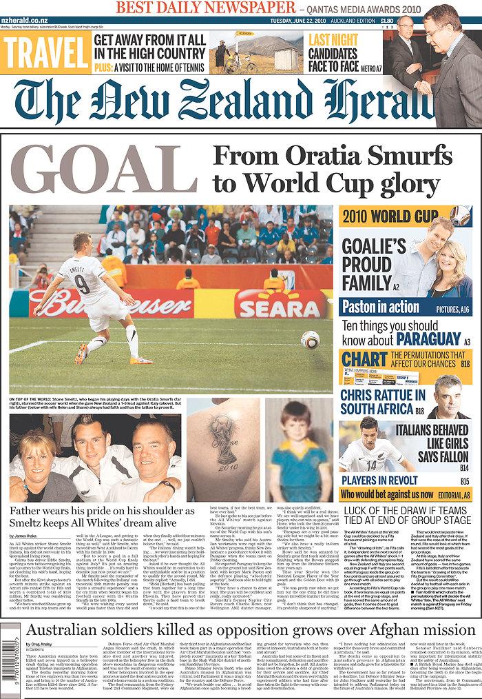 Shane Smeltz, New Zealand, World Cup, South Africa, Oratia Smurfs