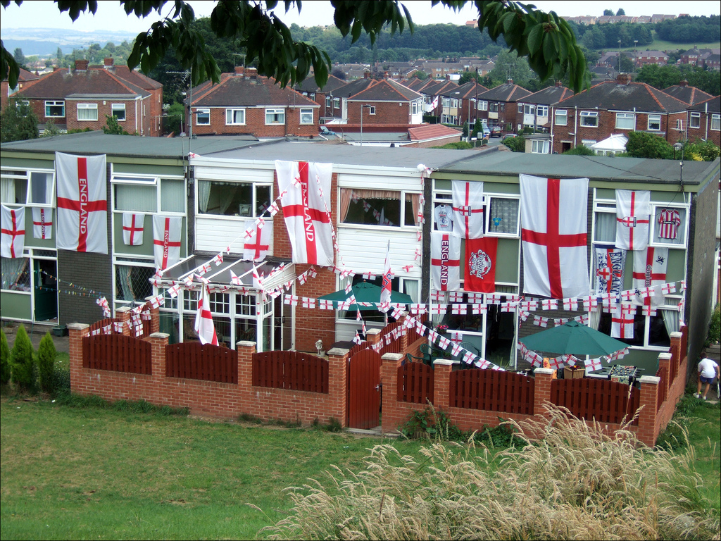 England, flags, St George's Cross