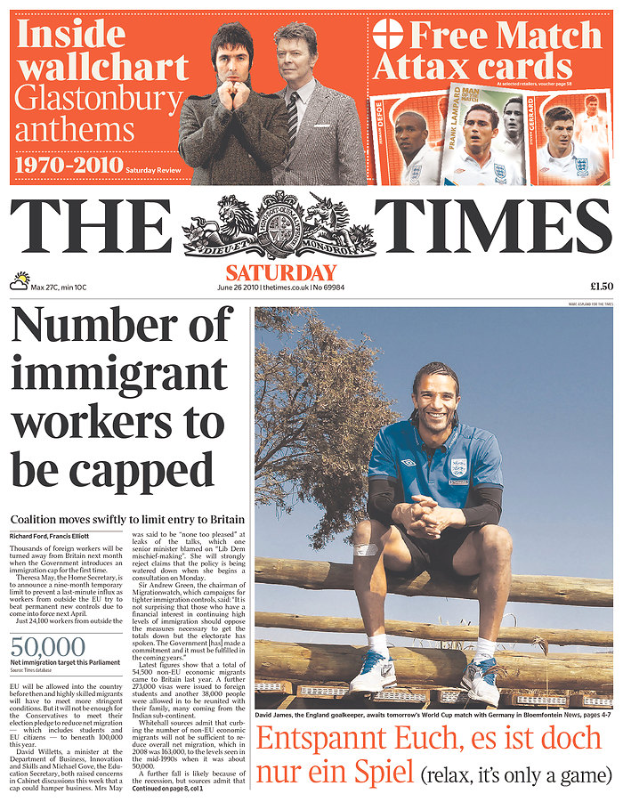 Germany, England, World Cup, South Africa, Newspaper, The Times