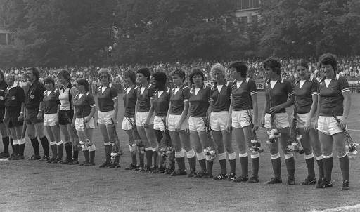 Woman Soccer final match in Bergisch Gladbach. The team of SSG 09 Bergisch Gladbach, which won 1:0. (06/18/1977)(AP Photo)