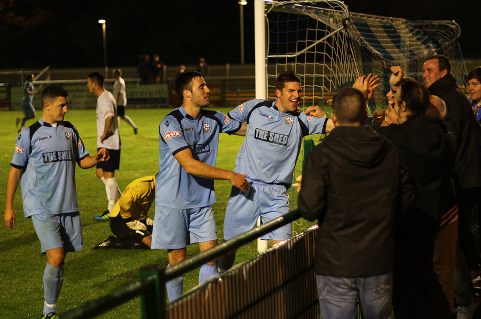 Cambridge City Celebrate. AFC Totton vs. Cambridge City, Little Testwood Farm, Totton - October 2011