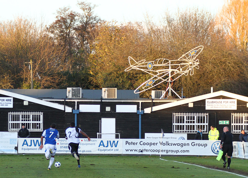 Chasing the Spitfire? Eastleigh vs. Boreham Wood, Silverlake Stadium - December 2011