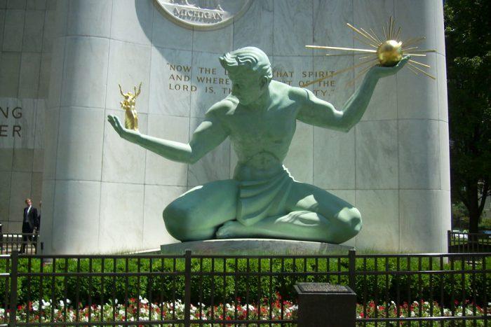 Spirit of Detroit Statue
