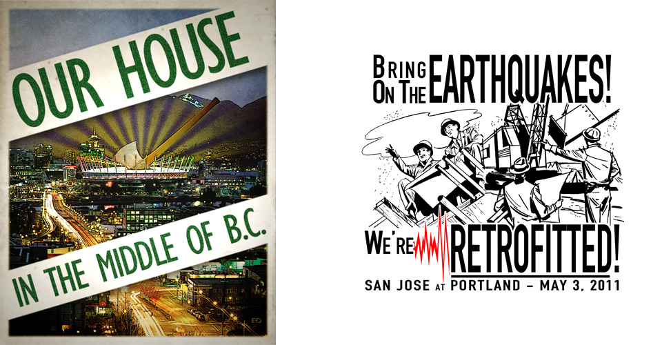 Vancouver and San Jose Rivalry Posters, Portland Timbers