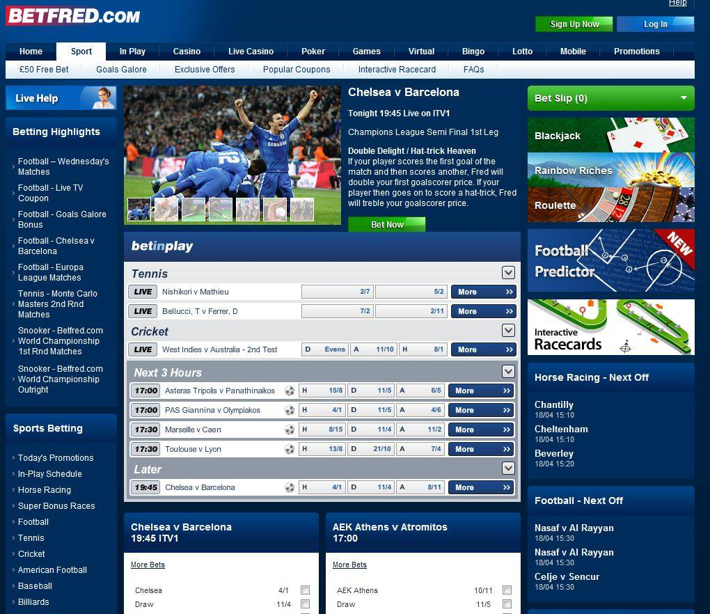 betfred sporting bet