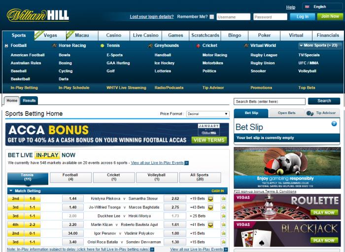 официальный сайт william hill sports betting