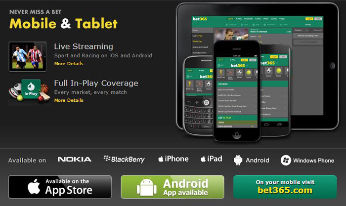 Bet365 Mobile / Destop / Tablet