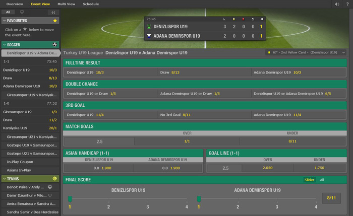 Bet365 In-Play Event