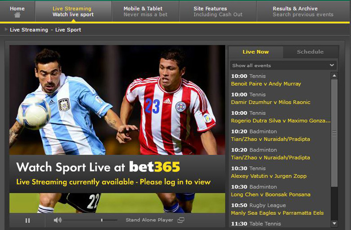 Bet365 Live Streaming Watch