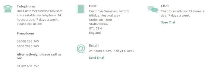 Bet365 Customer Service Contact