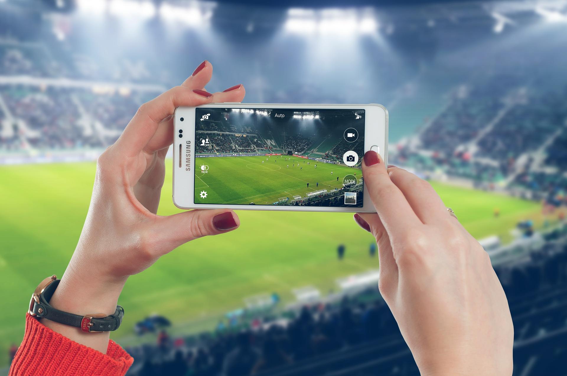 phone at football match