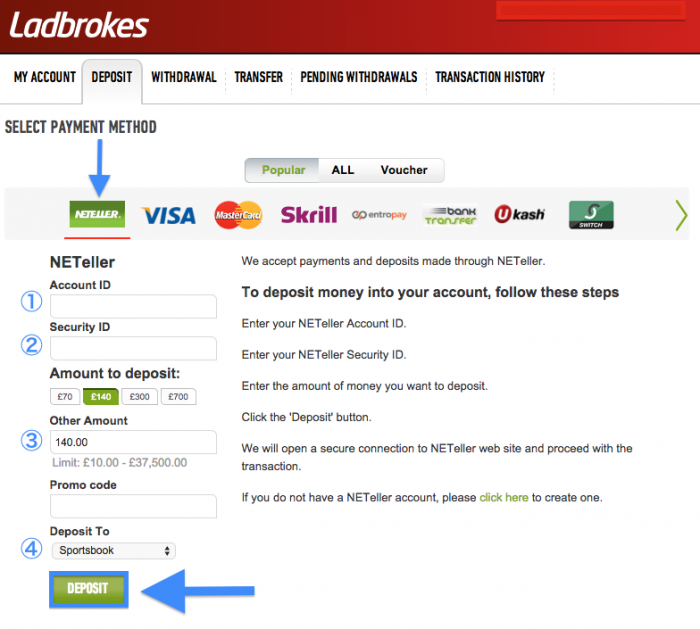 Ladbrokes Withdrawals & Deposits: A How-To Guide - Pitchinvasion
